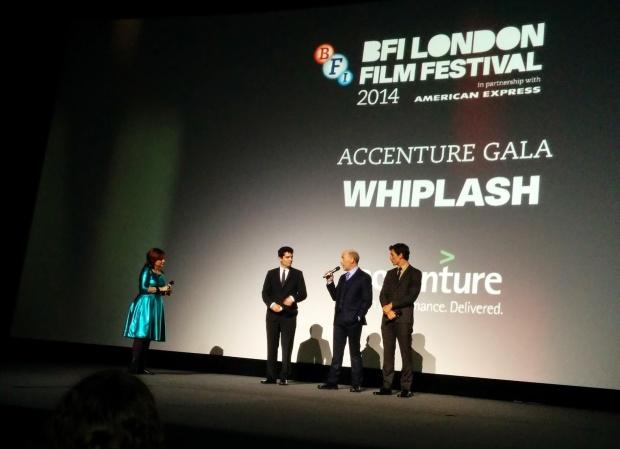 Damien Chazelle, J.K. Simmons and Miles Teller at the Whiplash Gala.